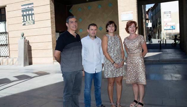 Paco Fernández, Imanol Haranburu, Arantxa Pérez y Nadine Azlor.
