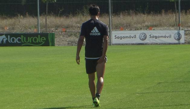 Luis Martins se retira del entrenamiento.