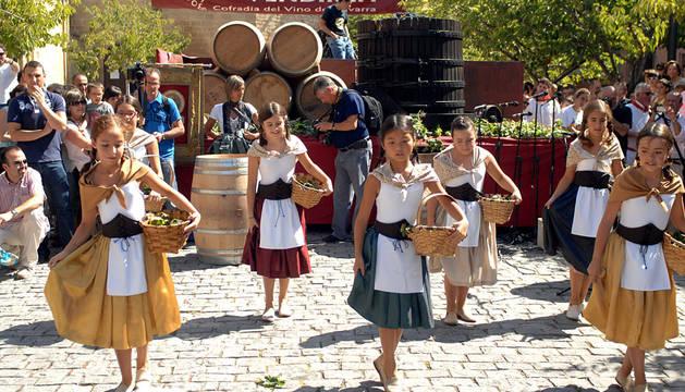 Fiesta de la vendimia en Olite en 2014.