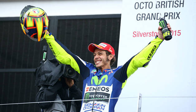Rossi, tras vencer en Silverstone.