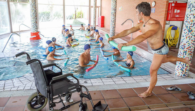 El curso sobre terapias acuáticas, el año pasado en Berriozar.