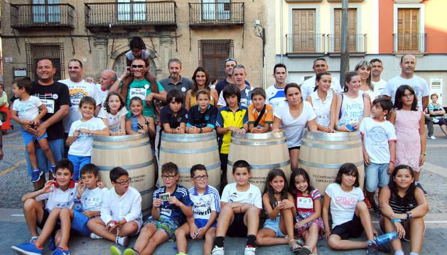 Participantes en la Fiesta de la vendimia.