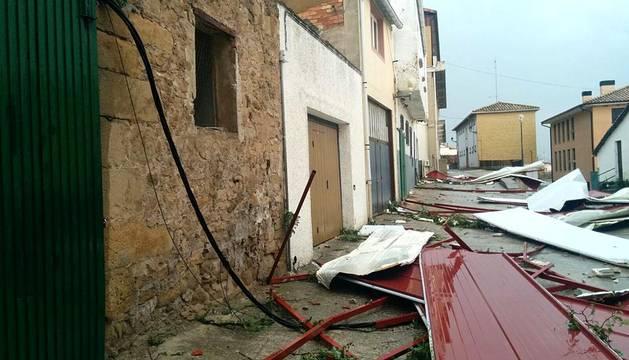 Consecuencias de la tormenta en Navarra