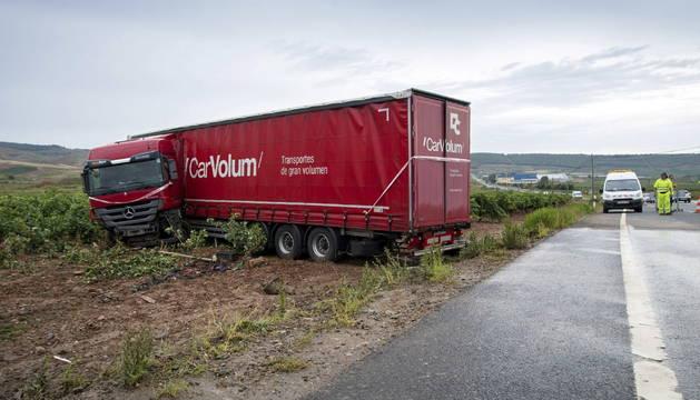 Un accidente mortal ocurrió ayer en Fuenmayor (La Rioja).