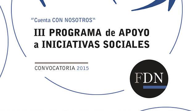 La Fundación Diario de Navarra convoca el III Programa de apoyo a iniciativas sociales