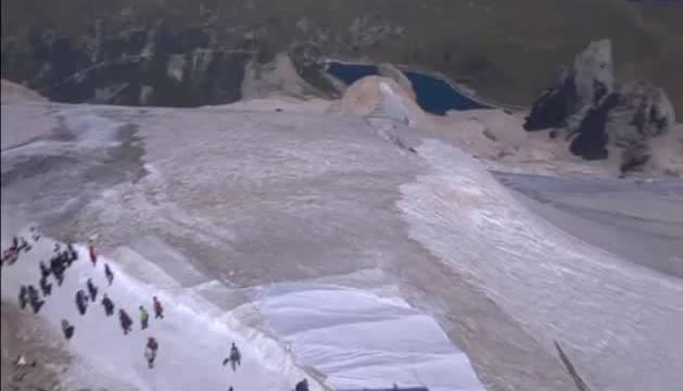 El área más afectada es la de las Dolomitas