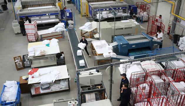 Imagen de una lavandería industrial radicada en Navarra.