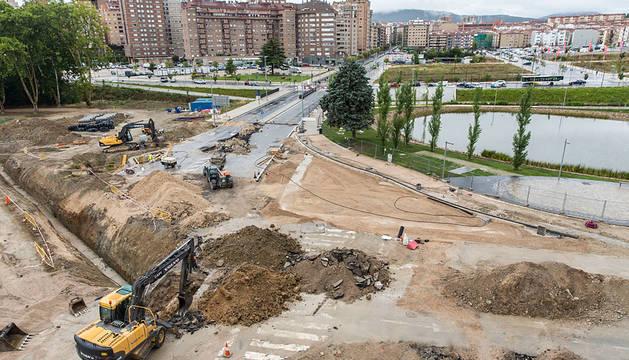 Obras en la avenida de Zaragoza.