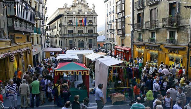 El Mercado Medieval de los Tres Burgos, en la plaza Consistorial.