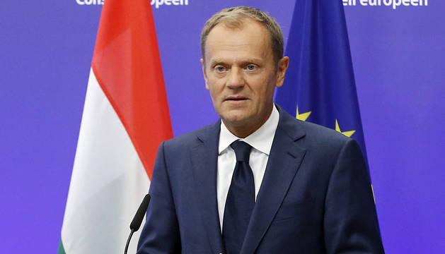 El presidente del CE, Donald Tusk.