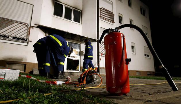 Cinco heridos en el incendio de un albergue de refugiados en Alemania