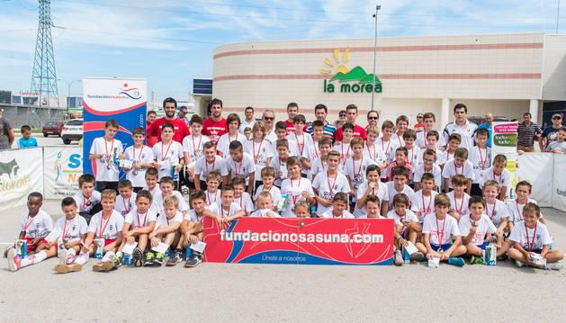 Ganadores del Torneo 3x3 Fútbol Plaza de la Fundación Osasuna.