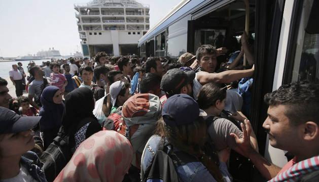 Unos 6.500 refugiados llegan a Austria para ir a Alemania