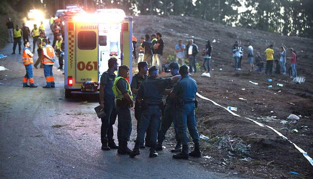 Vista del lugar donde las seis personas han muerto tras ser arrolladas.