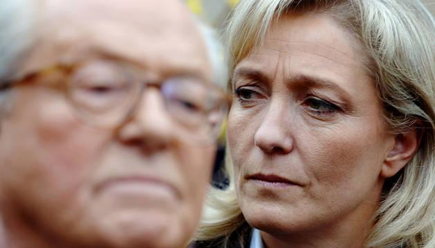 Marine Le Pen, tras su padre Jean Marie.