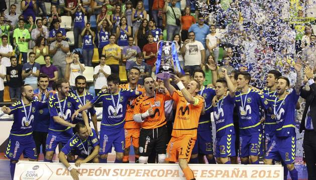 Inter Movistar celebra la Supercopa.