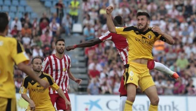 Oier Sanjurjo, contra el Almería.