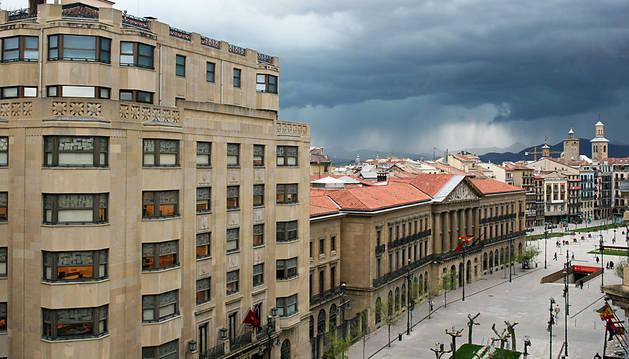 Sede del Gobierno foral, en la Avenida Carlos III de Pamplona.