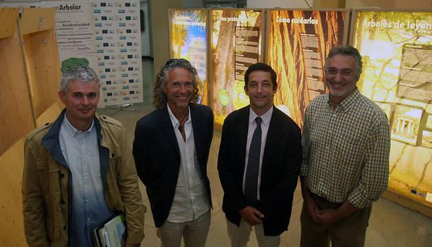 De izquierda a derecha: Mikel Belasco, César Javier Palacios, Rafael Miranda y Bernabé Moya.