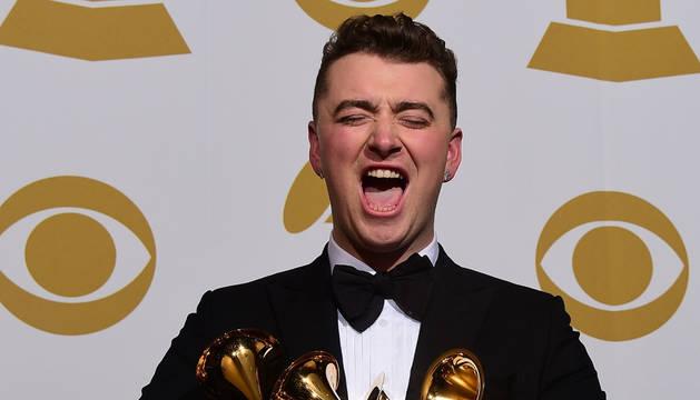 El cantante en los Grammy.