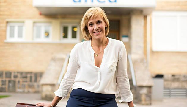 Eva Silva Nozal, cabo 1º de la Guardia Civil, ayer en la UNED Pamplona.