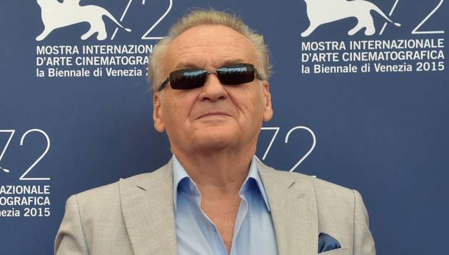 El director Jerzy Skolimowski en Venecia.