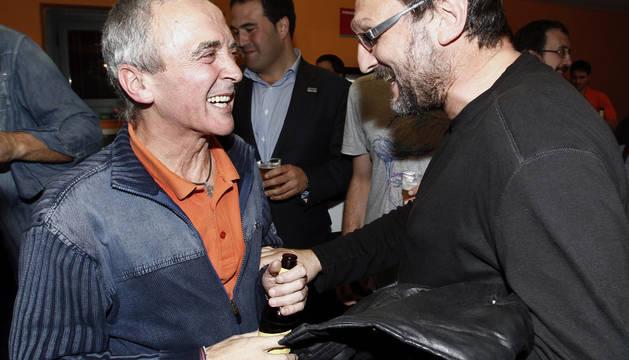 Sabino Cuadra y Txelui Moreno.