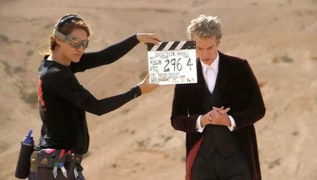Imagen difundida por la BBC en las redes del rodaje en Fuerteventura.