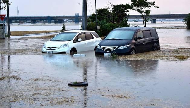 Inundaciones en Japón por el tifón Etau