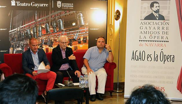 Un momento de la rueda de prensa de presentación de la temporada de AGAO.