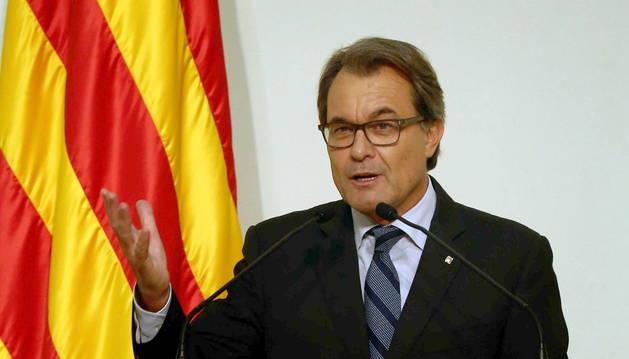 Artur Mas en la entrega de las medallas de oro de la cámara catalana.