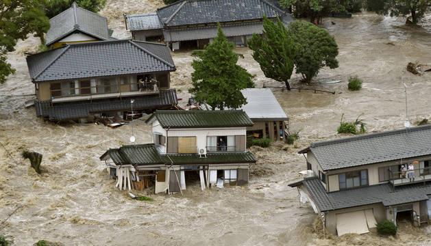 Detectan fugas de agua contaminada en Fukushima a causa del tifón Etau