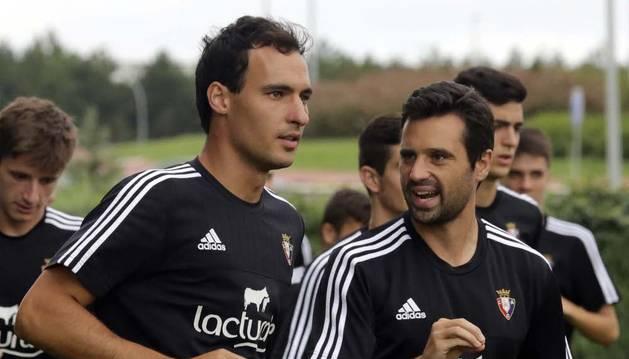 Unai García, con Miguel Flaño.