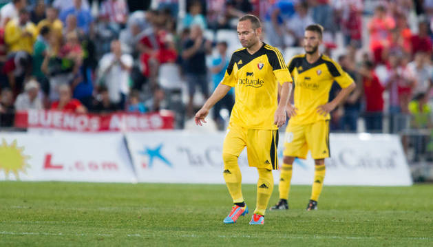Nino se lamenta contra el Almería.