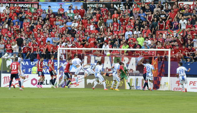 Imagen del partido Osasuna-Leganés disputado este sábado en El Sadar.