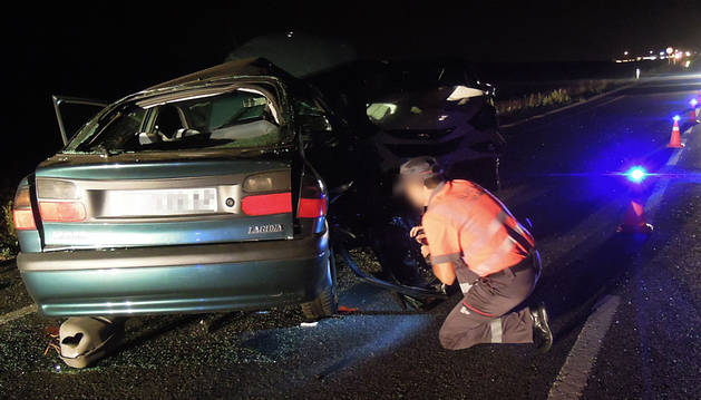 Una mujer de 62 años, herida muy grave en un accidente en Tiebas