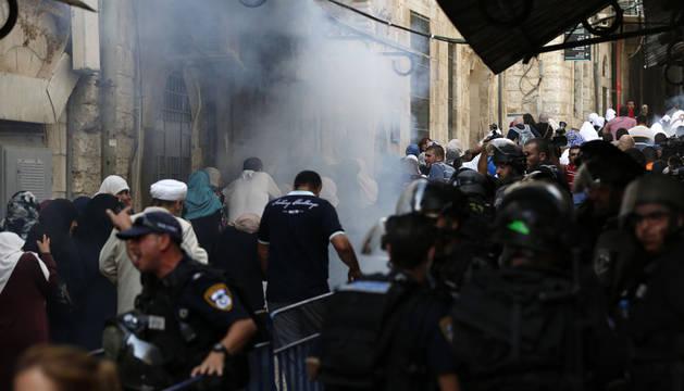 Disturbios entre israelíes y palestinos en la Explanada de las Mezquitas