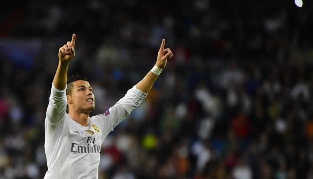 Cristiano celebra un gol contra el Shakhtar.