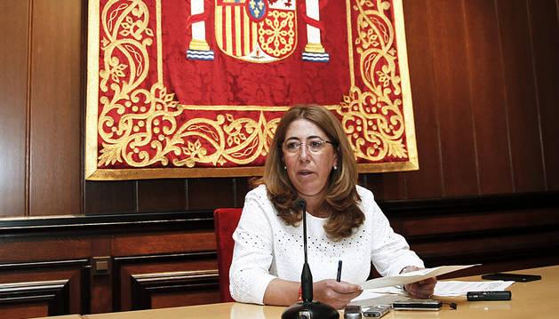 Carmen Alba, este martes en rueda de prensa.