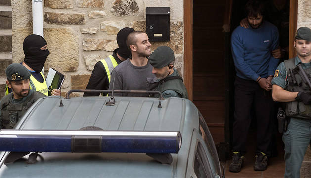 Detenciones en un gaztetxe de la localidad vizcaína de Otxandio.