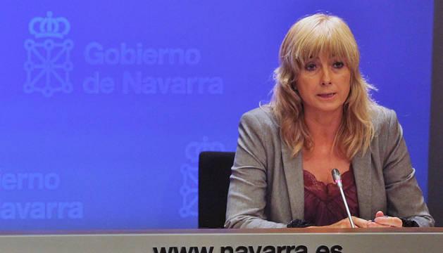 Ana Ollo, consejera portavoz del Gobierno de Navarra.