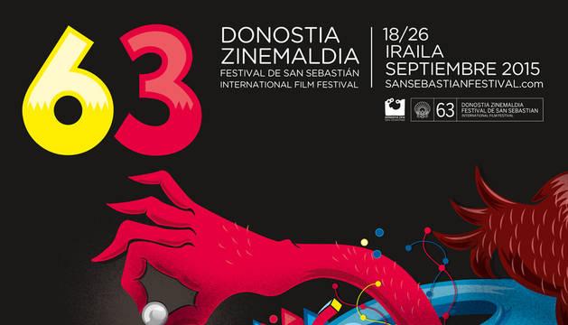 Cartel de la 63 edición del Festival de San Sebastián, que comienza este viernes.