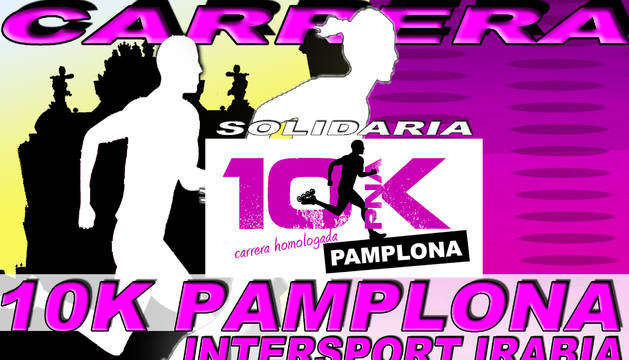 Cartel de la carrera 10K Pamplona 2015.