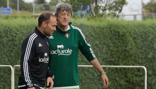 Nino y Martín, en un entrenamiento.