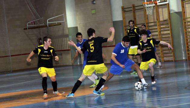 Imagen de un partido del Campeonato de Fútbol Sala.