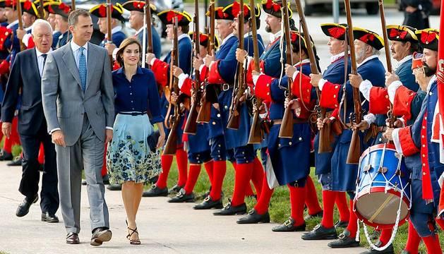 Los reyes de España visitan Miami