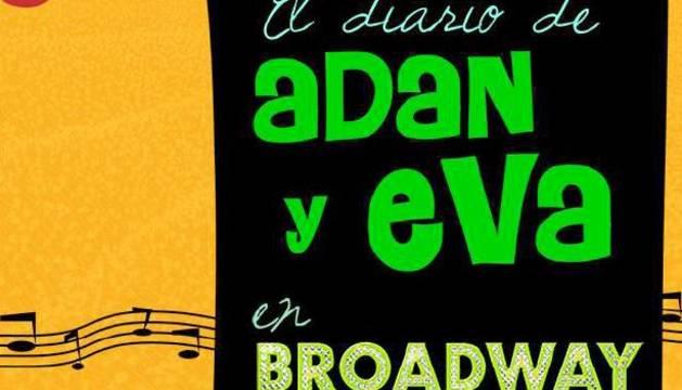 Cartel de la obra 'El diario de Adán y Eva en Broadway'