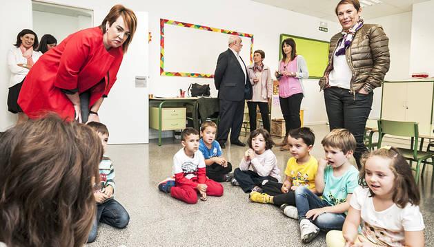Las clases en un colegio comarcal