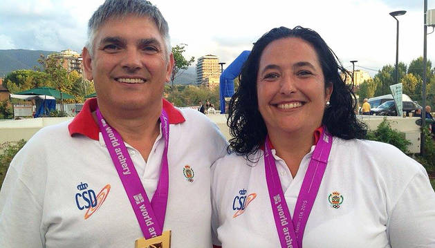 Los arqueros Iriarte y Garrido, campeones del Mundo de 3D