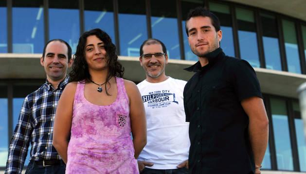 José Javier Astrain, Tania Jorajuría, Jesús Villadangos y Mael Taleb.